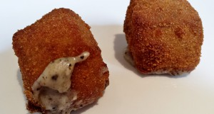 Croquetas de patata con trufa