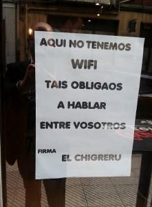 Cartel wifi chigreru