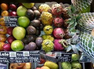 Frutas tropicales exóticas y coloristas. Los 5 Mejores