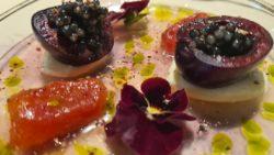 Gazpacho de cerezas con caviar. El Invernadero
