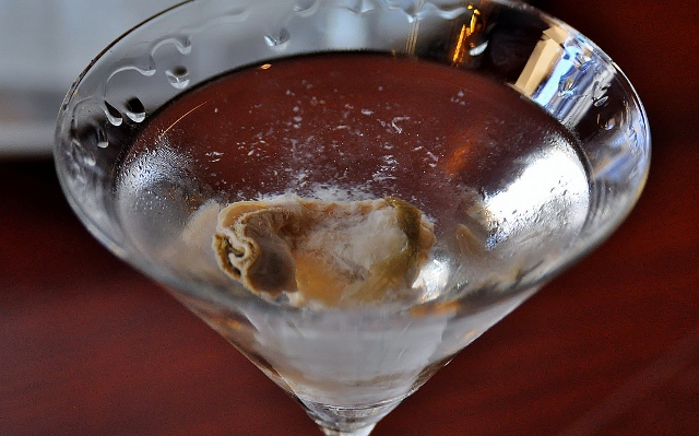 """Dirty Dry Martini""."