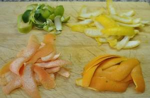 Pieles de los citricos
