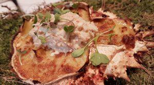 Tortilla de patata ahumada con txangurro