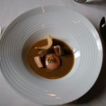Sopa castellana de perdiz de campo, asada al jerez